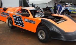 Rusty Ballenger's bright orange #29 MasterSbilt.