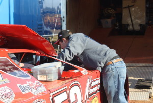 Ray Cook at work on his NeSmith crate LM.