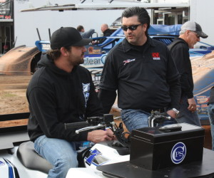 Jared Landers with CV Products rep Brad Loden