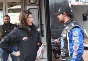 Jared Landers with MavTV reporter Erin Bates