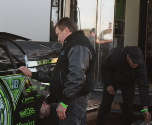 Engine builder and racer Vic Hill got in a word with Bloomquist