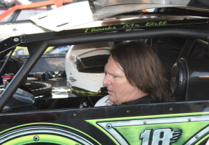 Scott Bloomquist arrived late but made his presence known.