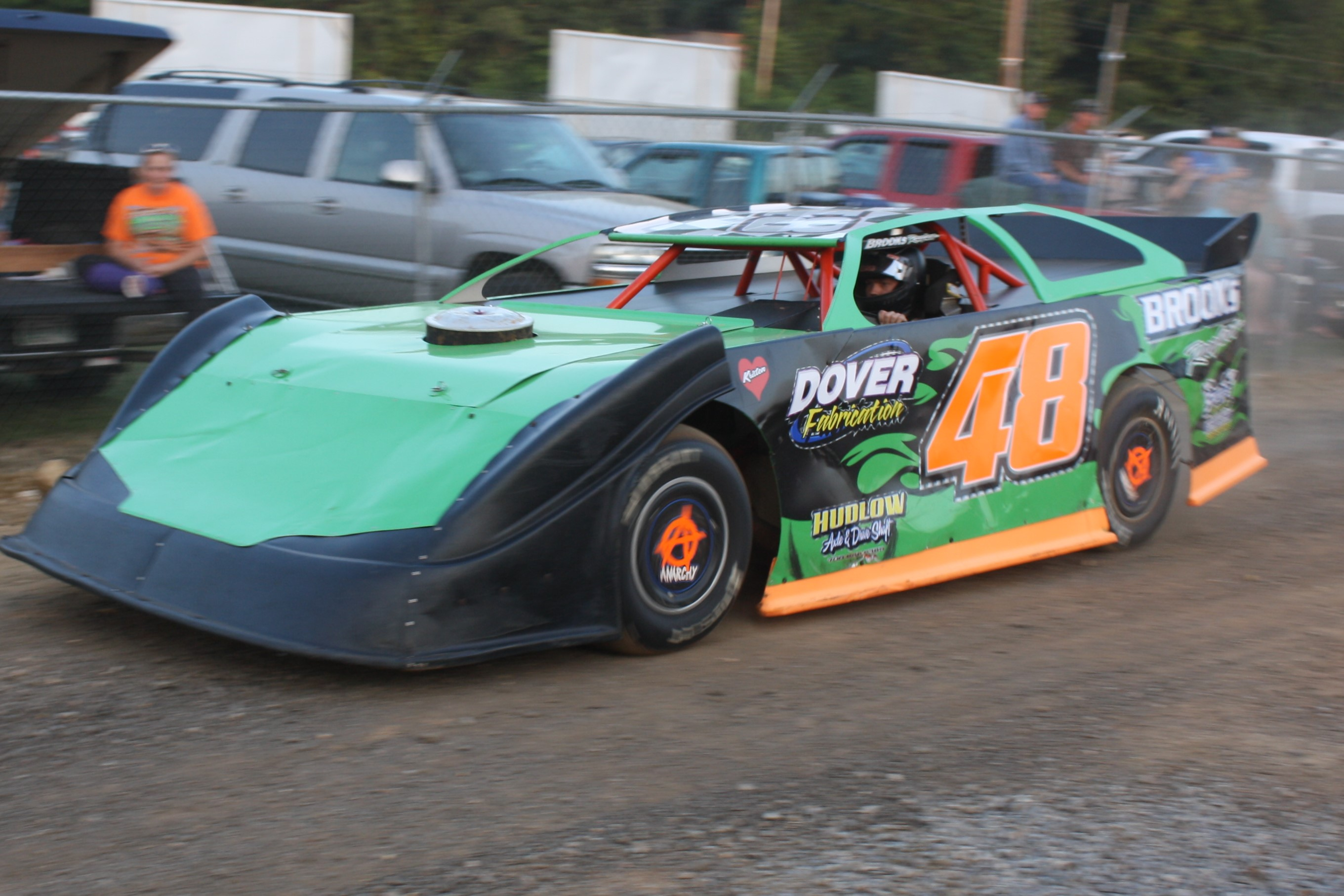 Booger Brooks continued his winning ways in Boyd's A-Hobby division.