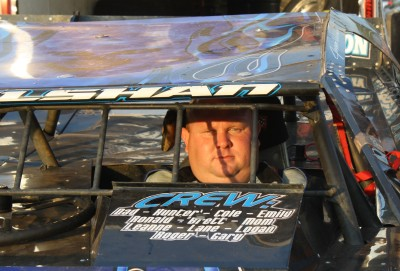 Jason Welshan had his eye on the prize as he strapped into his Crate Late Model on Friday night at Boyd's.