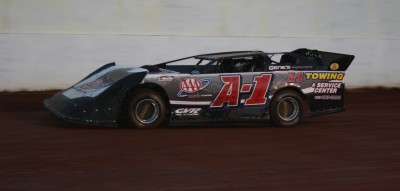 Jerry Coffman drove the A-1 machine to victory in the Crate LM portion of Friday's show.