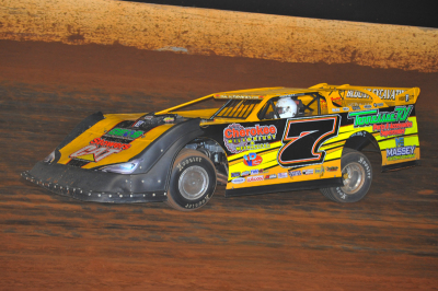 Donald McIntosh collected $5,000 for his efforts on Saturday at Boyd's Speedway.
