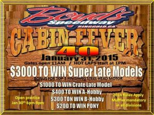 Boyd's Speedway sets date for Cabin Fever 40