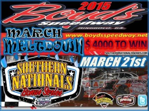 Pre-race Notes: Southern Nationals Bonus at Boyd's Speedway(3-21-15)