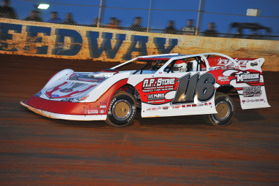 Randy Weaver took the lead on lap 11 and drove to his third win of 2015.
