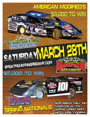 Pre-race Notes: Ultimate Super Late Models at Smoky Mountain(3-28-15)
