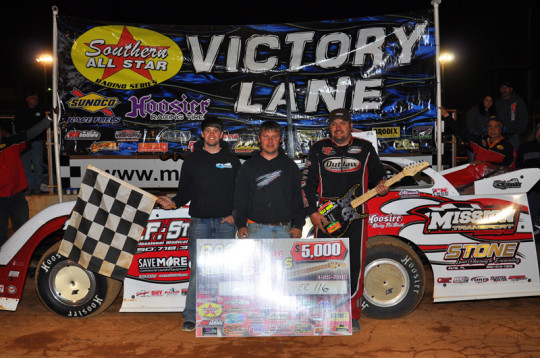 Weaver and crew in Victory Lane