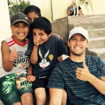 Chris Ferguson with some of the children he met in Honduras.