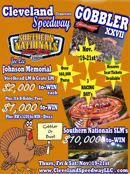 Pre-race Notes: The Gobbler at Cleveland Speedway(11-21-15)