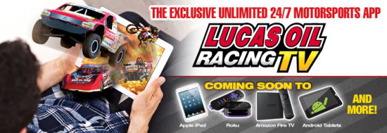 LucasOilRacing.TV offers intriguing possibilities for race fans
