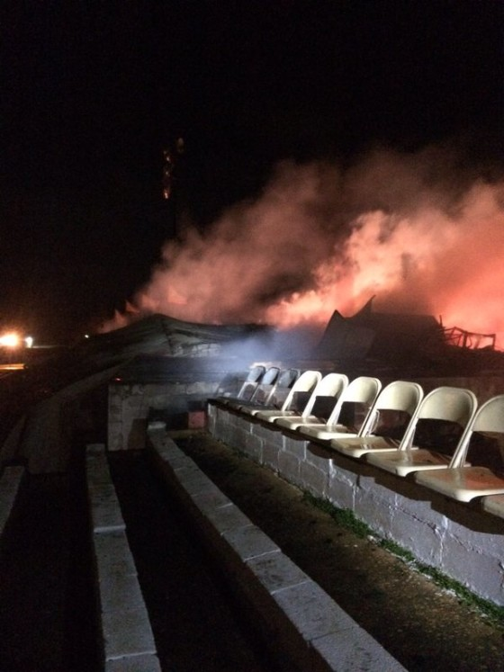 Fire damages Talladega Short Track