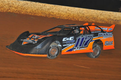 Jake Teague led all the way but had to survive a late race challenge to win