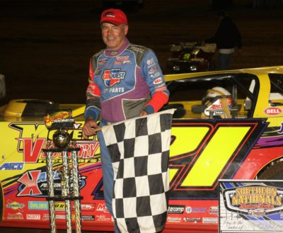 Billy Moyer after his Deep Fried 75 win