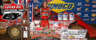 Bobby Pierce after his win in the North/South 100