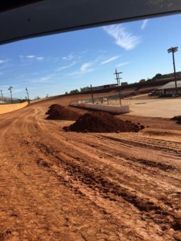 The back stretch at Volunteer