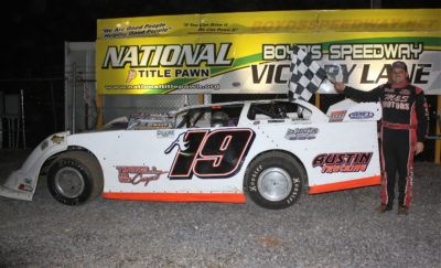 John Ownbey earned $2500 for his Crate LM win at Boyd's